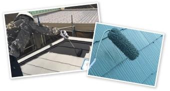 屋根の施工写真