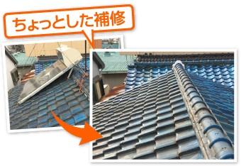 太陽熱温水器の撤去