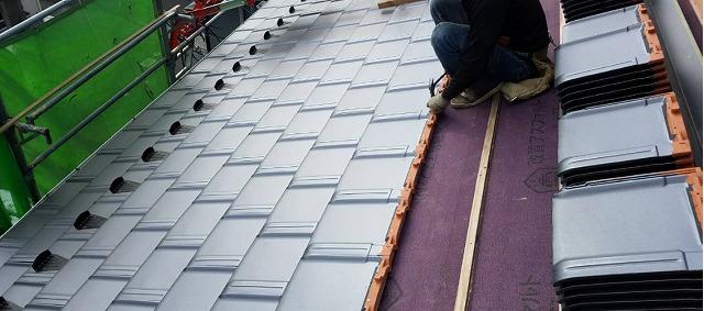 草津市屋根葺き替え工事
