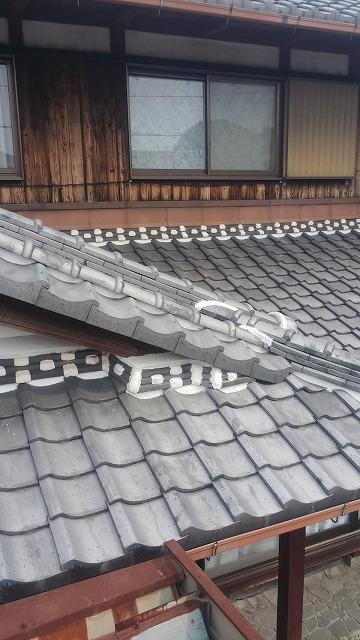 下屋根壁取り合い