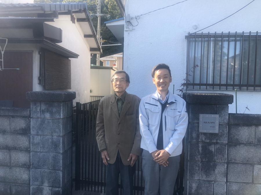 近江八幡市多賀町にてカラーベストからカラーベストに葺き替えをされた赤岩様の声