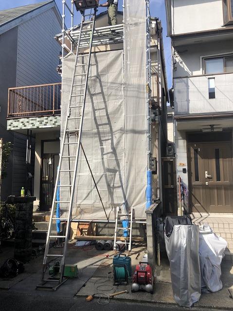 京都府山科区西野山にお住まいのK様邸の屋根改修工事